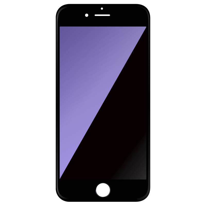 51c4b0dbbcf 3D Full Cover Anti-Broken Edge Anti-Blue Light Tempered Glass Screen  Protector BLACK for iPhone 6/6S
